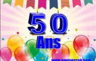 Joyeux Anniversaire 50 ans