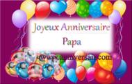 Joyeux anniversaire papa