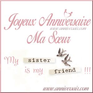 Joyeux Anniversaire Ma Sœur Bon Anniversaire Ma Soeur