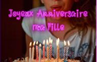 Carte anniversaire joyeux anniversaire ma fille