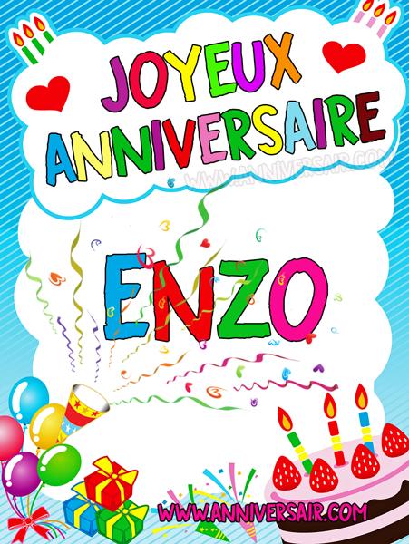 joyeux anniversaire image Carte virtuelle Joyeux anniversaire Enzo