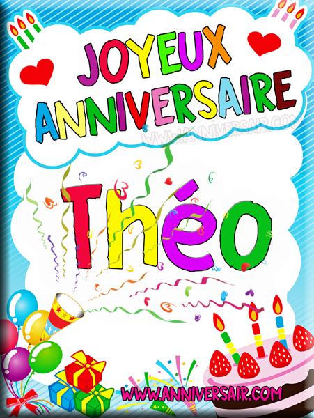joyeux anniversaire image Carte virtuelle Joyeux anniversaire Théo