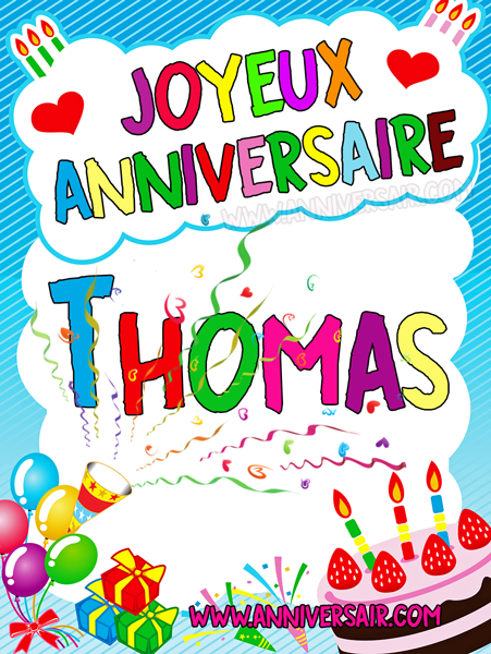 joyeux anniversaire image Carte virtuelle Joyeux anniversaire Thomas