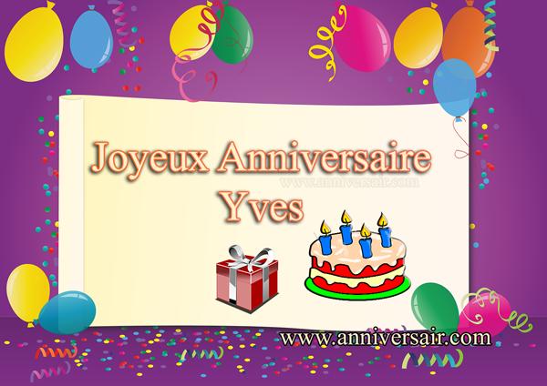 Joyeux anniversaire Yves
