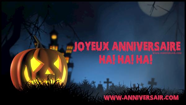 Halloween jour d'anniversaire