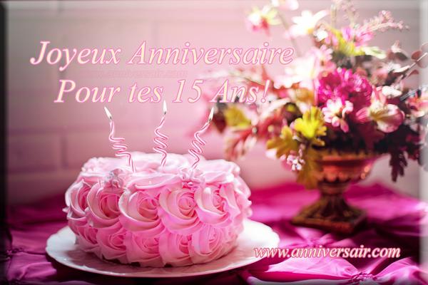 joyeux anniversaire 15 ans fille femme