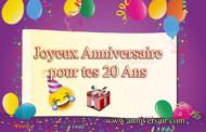 20 ans Joyeux anniversaire discours