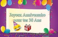 30 ans Joyeux anniversaire discours