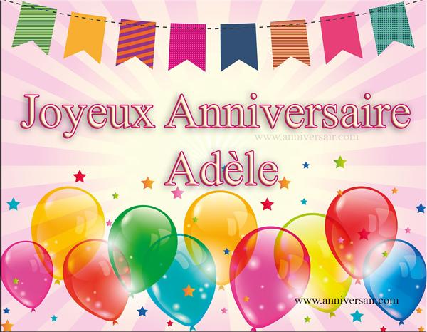 Carte virtuelle Joyeux anniversaire Adèle