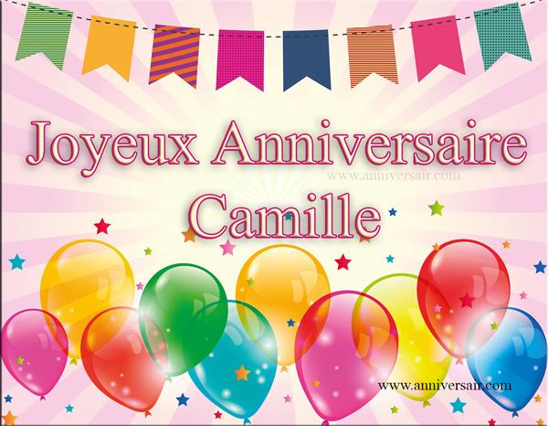Carte virtuelle Joyeux anniversaire Camille