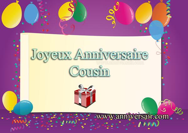 Carte virtuelle Joyeux anniversaire Cousin