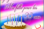 Carte virtuelle Joyeux anniversaire ma fille 34 ans