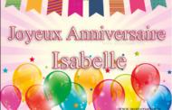 Joyeux anniversaire Isabelle