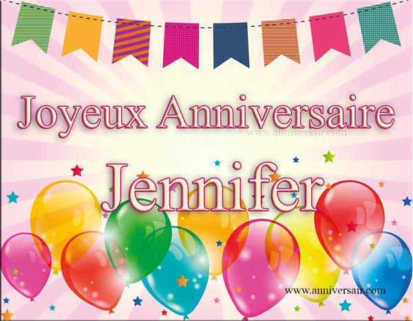 Joyeux anniversaire Jennifer