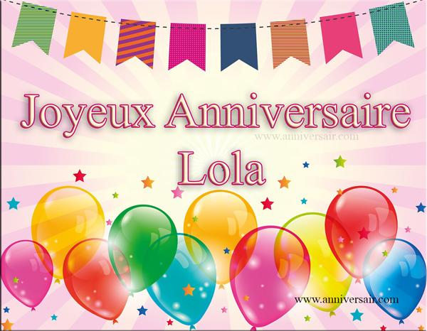 Carte virtuelle Joyeux anniversaire Lola