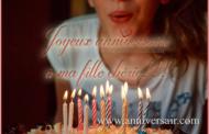 Joyeux anniversaire à ma fille chérie