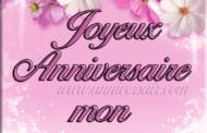 Joyeux anniversaire mon Amour avec des fleurs