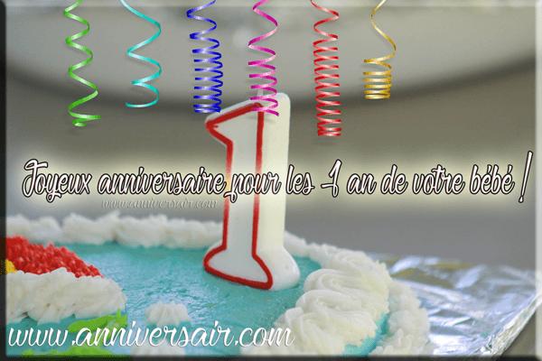 Gâteaux anniversaire 1 an garçon
