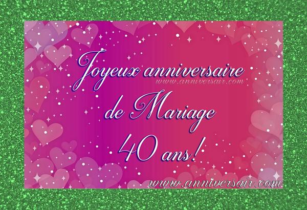 Anniversaire de mariage 40 ans