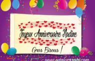 Joyeux anniversaire à Nadine