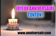 Joyeux anniversaire Tonton