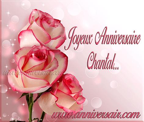 Joyeux anniversaire Chantal