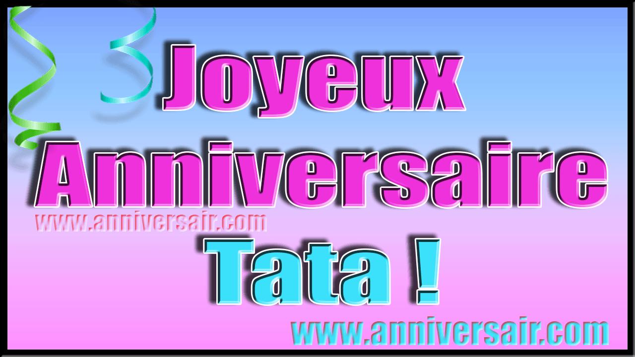 Joyeux anniversaire Tata