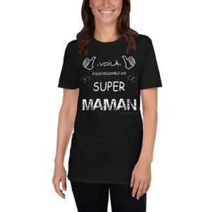 anniversaire super maman cadeau tee shirt