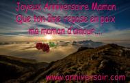 Message d'anniversaire maman décédée