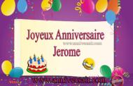 Joyeux anniversaire Jerome