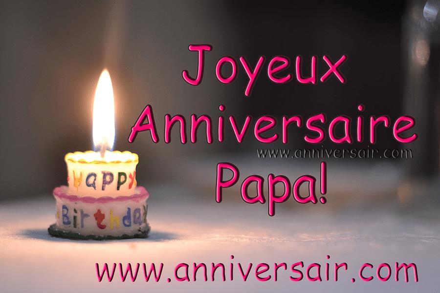 Message pour l'anniversaire de papa