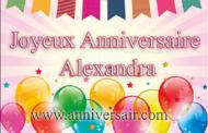 Joyeux anniversaire Alexandra