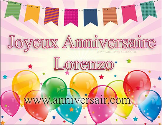 Joyeux anniversaire Lorenzo