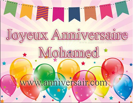 Joyeux anniversaire Mohamed