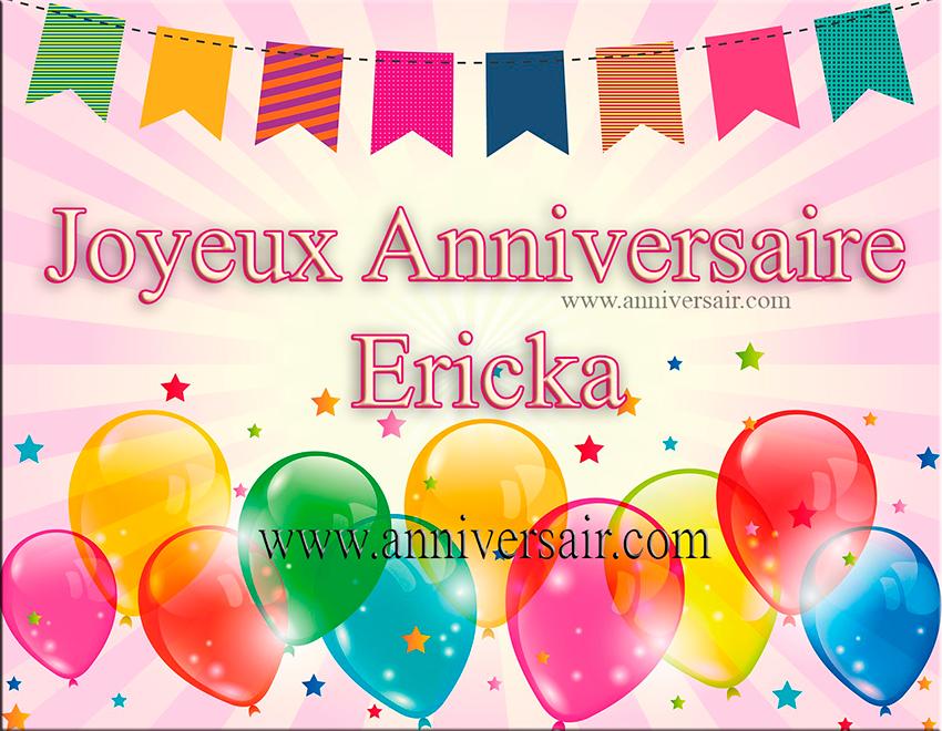 Joyeux anniversaire Ericka