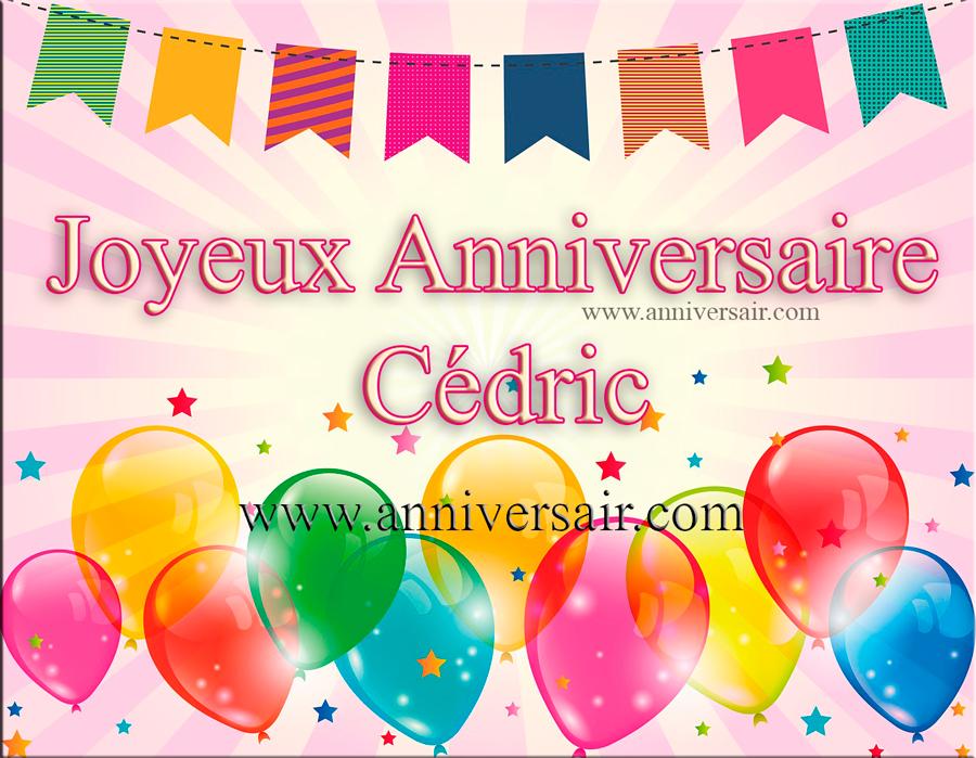 Joyeux anniversaire Cédric