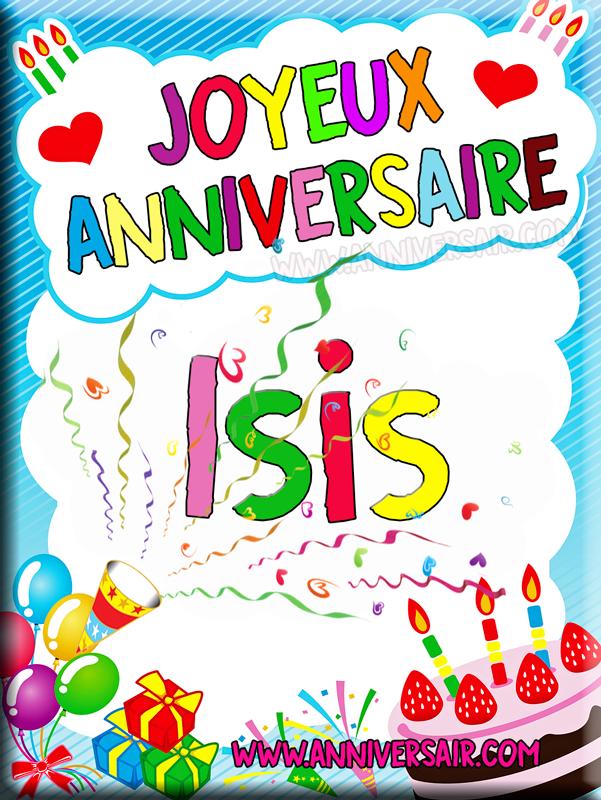 Joyeux anniversaire Isis