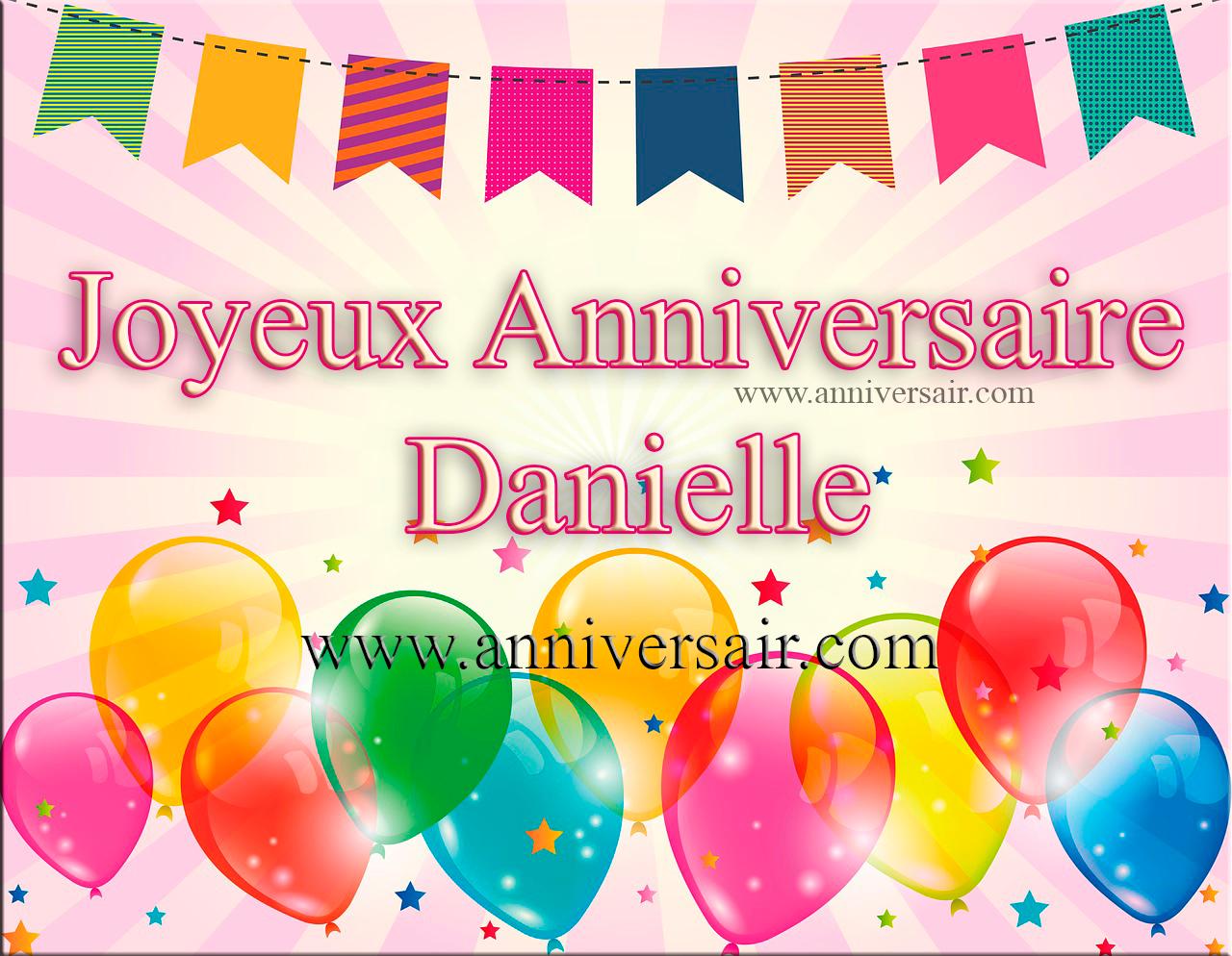 Joyeux anniversaire Danielle