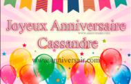 Joyeux anniversaire Cassandre