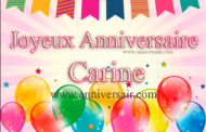 Joyeux anniversaire Carine !