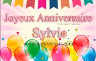 Sylvie, joyeux anniversaire !