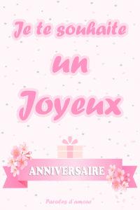 Carte pour souhaiter un joyeux anniversaire